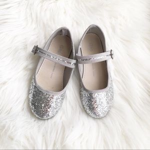 Like New BabyGap Sparkly Silver Shoes